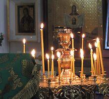 Prayers Ablaze at Trinity Cathedral by M-EK