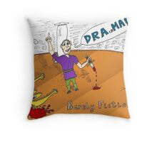 Euroman DRAchMA comic strip for the binary options news Throw Pillow