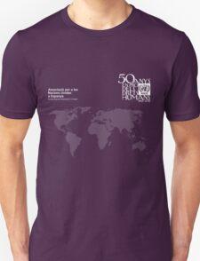 ANUE 50 Mapa Blanc (Català)  T-Shirt