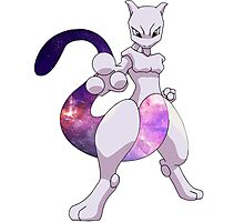 Mewtwo - Galaxy Art Photographic Print