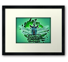 Change is Good Framed Print