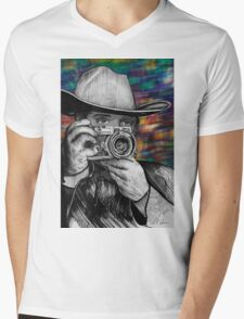 Cowboy Photographer Mens V-Neck T-Shirt