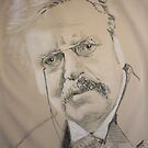 gilbert keith chesterton, 1874 - 1936 by Peter Brandt