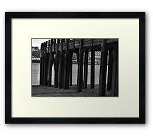 Wooden Pier Framed Print