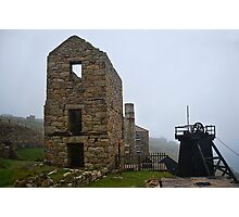 A Murky Day At The Mines ~ Levant, Cornwall Photographic Print