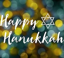 Happy Hanukkah Bokeh Lights by maydaze