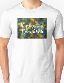 Happy Hanukkah Bokeh Lights Unisex T-Shirt