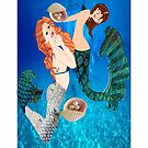 2 mermaids I Phone case  (732 Views) by aldona