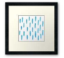Indigo Rain Framed Print