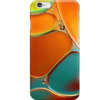Oil and Water Abstract in Orange iPhone Case/Skin