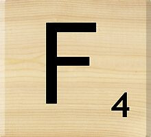 Scrabble Letter F by Scrabbler