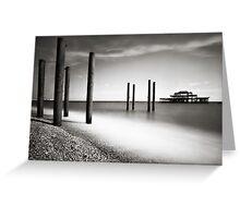 Old Brighton Pier Greeting Card