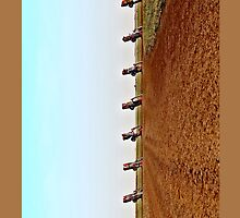 Cadillac Ranch Panorama iPhone 4 Case by Warren Paul Harris