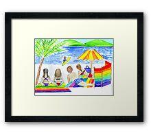 family beach day Framed Print