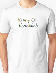 happy hanukkah bokeh Unisex T-Shirt
