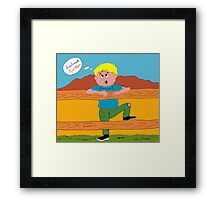 What Country Kids Think The National Broadband Network Means Framed Print