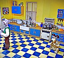 Wallace's Kitchen - Wallace & Gromit by TonyCrehan