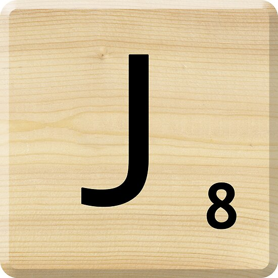 Scrabble Letter J by Scrabbler