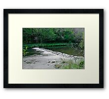 River Dove Weir, Dovedale  Framed Print