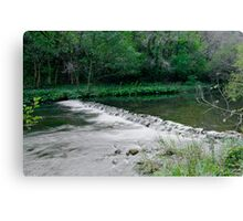 River Dove Weir, Dovedale  Canvas Print