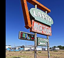Route 66 Lasso Motel iPhone 4 Case by Warren Paul Harris