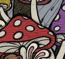 Teddy Bear And Bunny - Rainy Day Blues Sticker