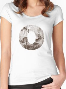 O Deer Women's Fitted Scoop T-Shirt