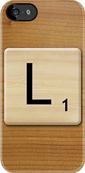 Scrabble Letter L by Scrabbler