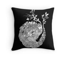 Nature's Choir (mono) Throw Pillow