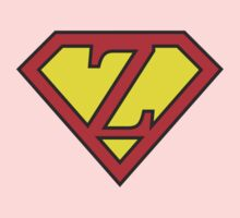 Z letter in Superman style One Piece - Short Sleeve
