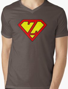 Z letter in Superman style Mens V-Neck T-Shirt