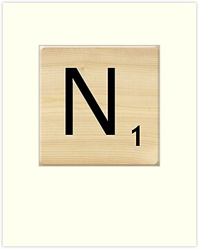 Scrabble Letter N by Scrabbler