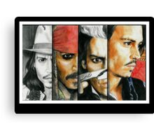 Different shades of Johnny Depp Canvas Print