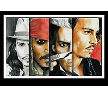 Different shades of Johnny Depp Photographic Print