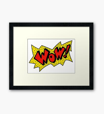 90s Wow Graphic Design Framed Print