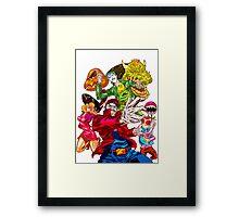 Street fighter Mario Framed Print