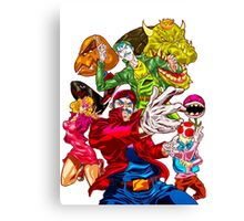 Street fighter Mario Canvas Print