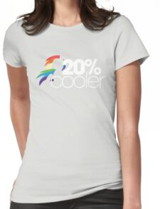 20% Cooler! (ALL options) - BLACK Womens Fitted T-Shirt