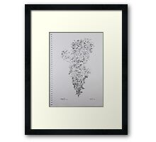 Line and Shade Framed Print