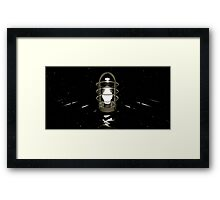Don't believe your eyes - this is NOT a lamp! (( It's all about self-delusion... )) Framed Print