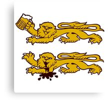 normandie lion normand drunk beer Canvas Print