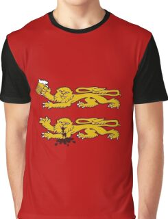 normandie lion normand drunk beer Graphic T-Shirt
