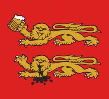 normandie lion normand drunk beer by huggymauve