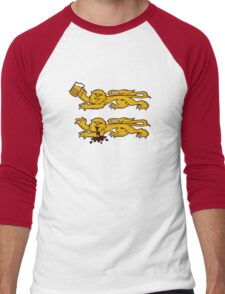 normandie lion normand drunk beer Men's Baseball ¾ T-Shirt