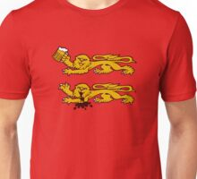 normandie lion normand drunk beer Unisex T-Shirt
