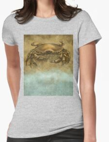Beach Crab Womens Fitted T-Shirt