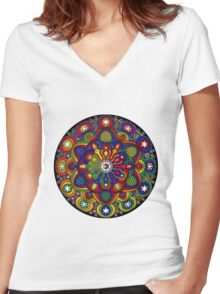 Mandala 42 T-Shirts & Hoodies Women's Fitted V-Neck T-Shirt