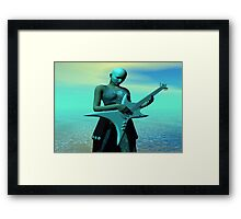 Sad Guitar Framed Print