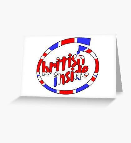British Inside Greeting Card