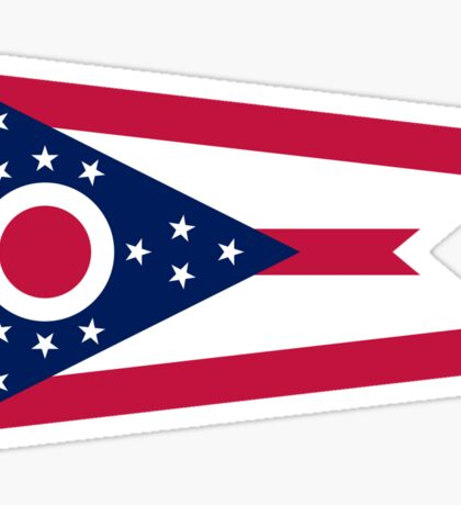 Ohio Columbus USA State Flag Bedspread T-Shirt Sticker Sticker